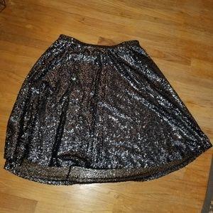 Lane Bryant Silver Sequined Swing skirt 18/20
